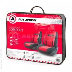 авточехлы трансформеры comfort передний ряд TRS/COM-001 BK/RD