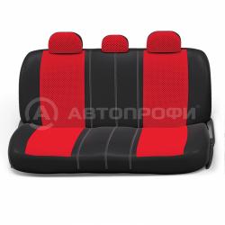 авточехлы ортопедические comfort COM-1105 BK/RD (M)