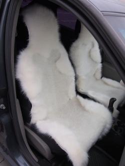 Накидка из овечьей шерсти, ворс комбинированный, белая