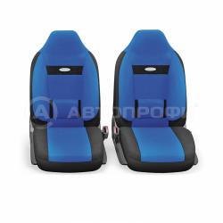 авточехлы ортопедические comfort COM-1105H BK/BL (M)