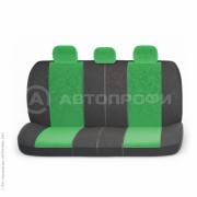 авточехлы ортопедические comfort COM-1105 BK/GREEN (M)