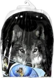 Накидка из искусственного меха (Волк - черный)