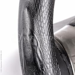 Оплетка для перетяжки руля (композитная кожа, тиснение в форме крокодила)