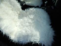 Накидка из натуральной овечьей шерсти «CLASSIC» - белый (длинный мех)
