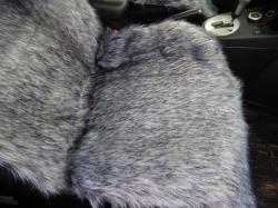 Накидка из натуральной овечьей шерсти-длинный мех (серый)