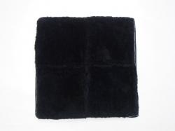 Меховые квадраты из овечьей шерсти, черный