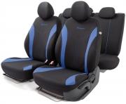 Автомобильные чехлы FLEX, полиэстер, черный\синий