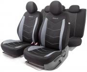 Автомобильные чехлы AEROBOOST, сетчатая ткань, черный\серый