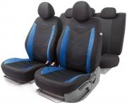 Автомобильные чехлы AEROBOOST, сетчатая ткань, черный\синий