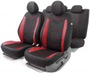 Автомобильные чехлы AEROBOOST, сетчатая ткань, черный\красный