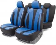 Авточехлы классические  PERFORMANCE, полиэстр, чёрный\синий
