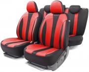 Авточехлы классические  PERFORMANCE, полиэстр, чёрный\красныйй