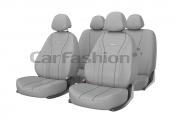 Авточехлы классические, экокожа  «TILTAN» серый/серый/т.серый