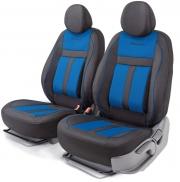 Авточехлы CUSHION COMFORT передний ряд чёрный\синий