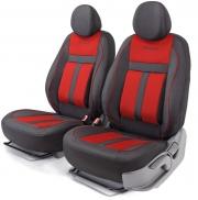 Авточехлы CUSHION COMFORT передний ряд чёрный\красный