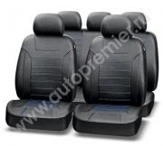 Авточехлы классические, экокожа, PREMIER PLATINUM VIP чёрный/синяя нить