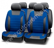 Авточехлы классические, экокожа, PREMIER PLATINUM VIP  черный\синий