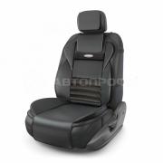 Накидка на сиденье MULTI COMFORT - экокожа / черный