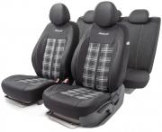 Автомобильные чехлы Polo GTi, жаккард , черный\серый