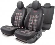 Автомобильные чехлы Polo GTi, жаккард , черный\серый\красный