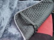 Накидка из натуральной овечьей шерсти «CLASSIC» -  серый (короткий мех)