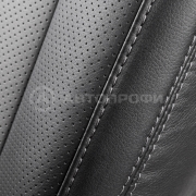 Авточехлы экокожа+алькантара 12пр. VOLKSWAGEN Jetta5 2003-2012г.в. черный/т.серый
